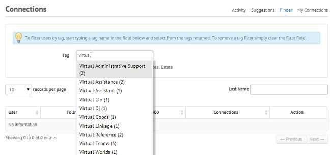 Follr Tag Search Feature