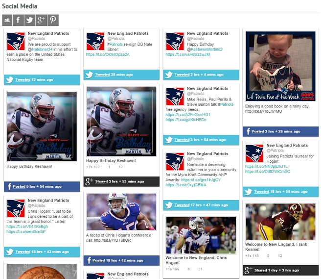 New England Patriots Social Media