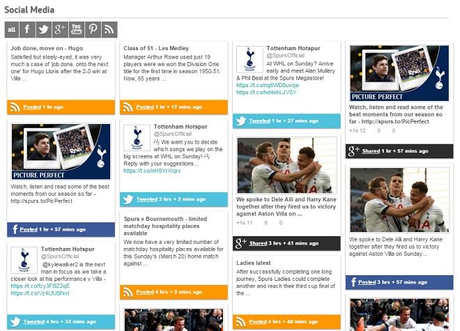 Tottenham Social Media