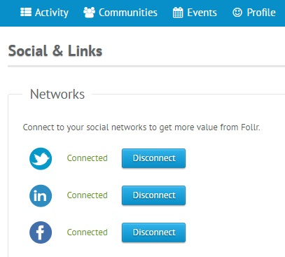 Follr - Update Networks