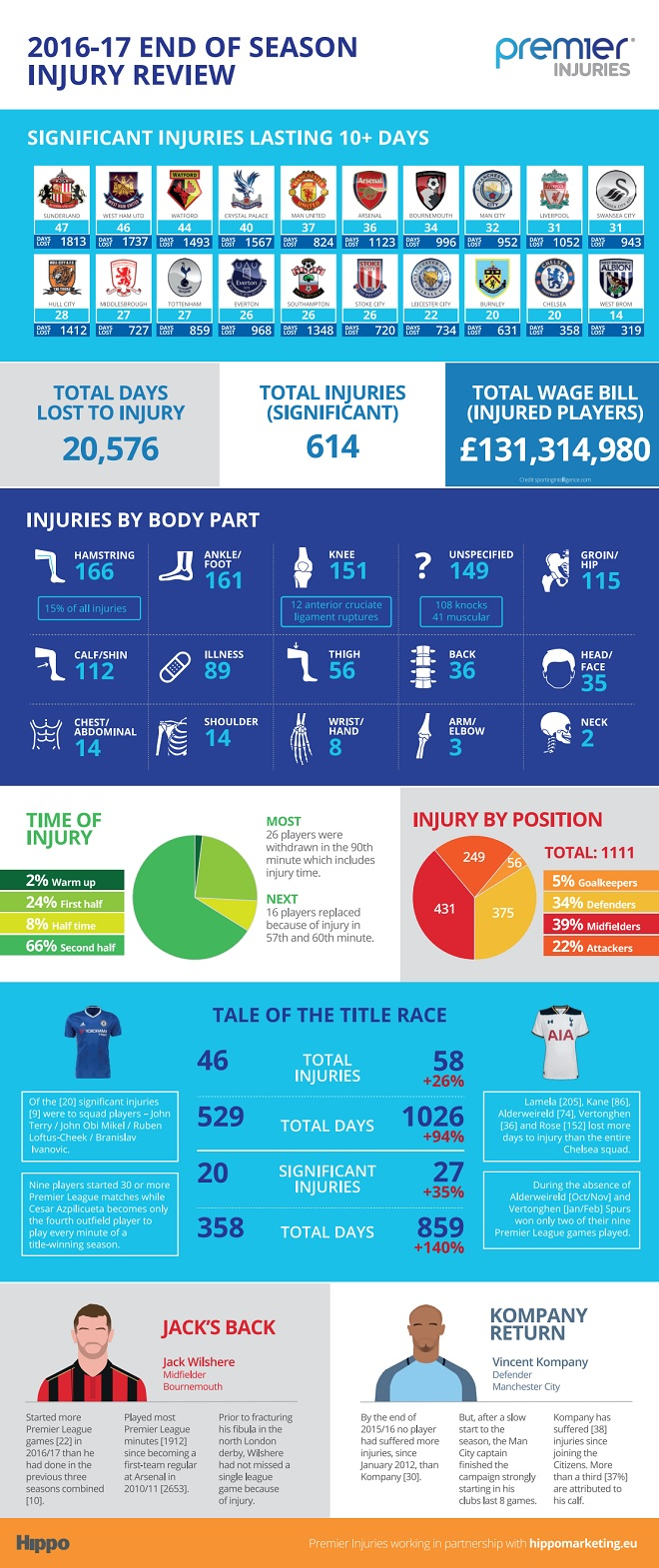 Premier League Injuries Infographic