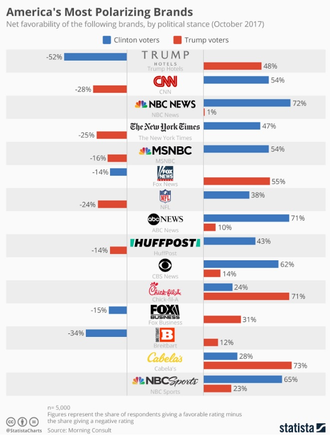 Most Polarizing Brands Infographic